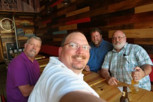 A selfie at the San Juan Smokehouse. L-R Me, Dean, Bill and George