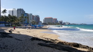 Last day, the beach in the Condado section of San Juan.